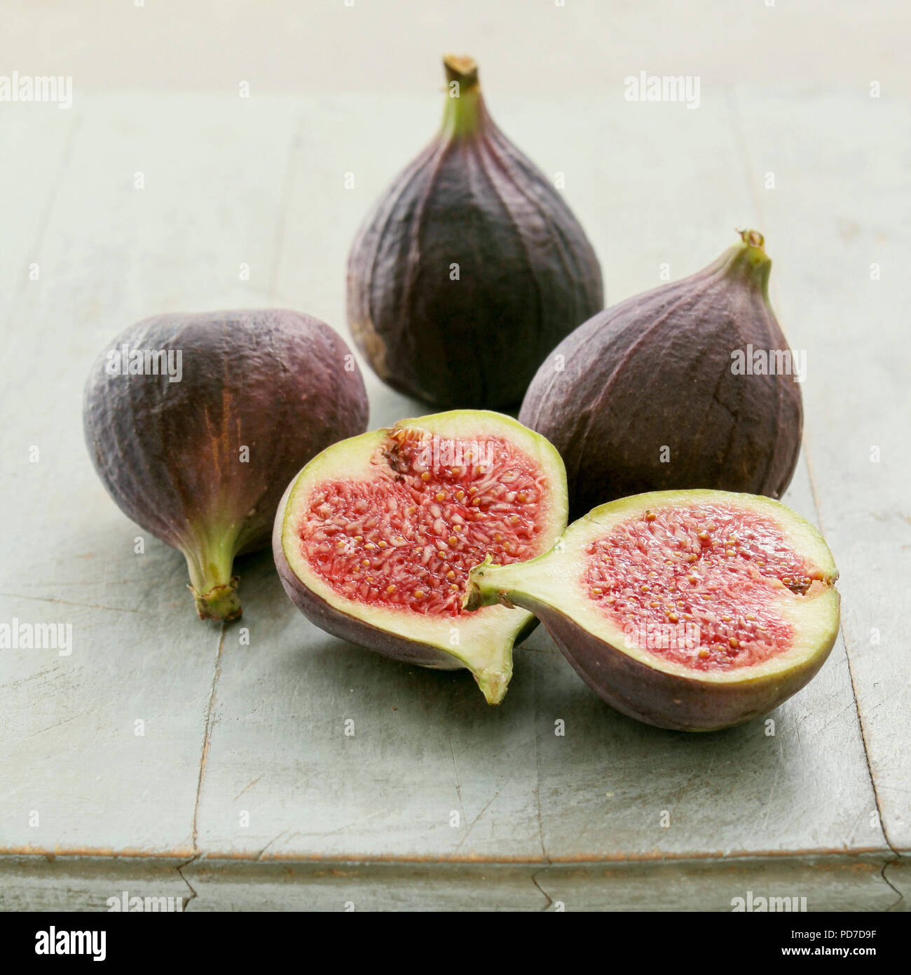 fresh ripened fig - Stock Image
