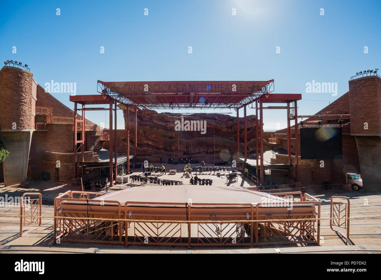 Red Rocks Amphitheatre Colorado High Resolution Stock Photography And Images Alamy
