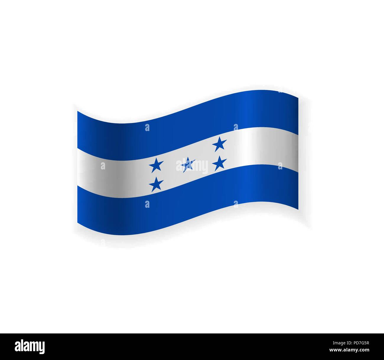 The Flag Of Honduras. Country in Central America. Vector illustration. National symbol Stock Vector