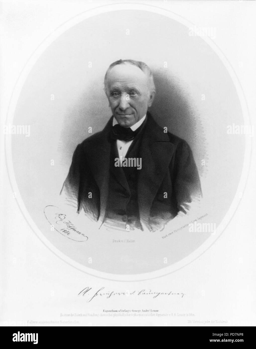 Andreas, Freiherr von Baumgartner, 1793-1865 - Stock Image