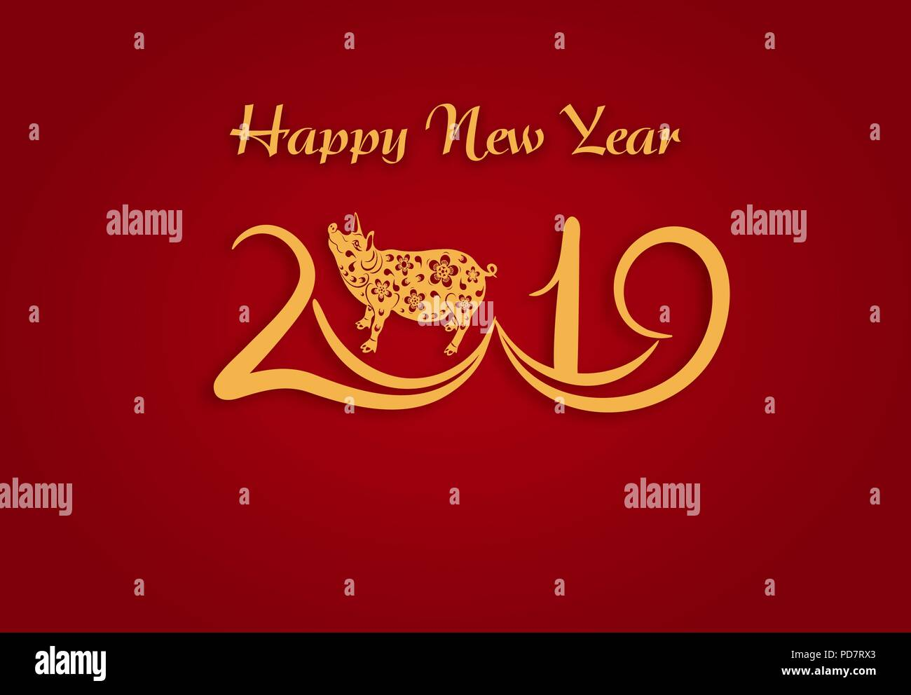 Chinese new year 2019 pig stock photos chinese new year - Lucky color for new year 2019 ...