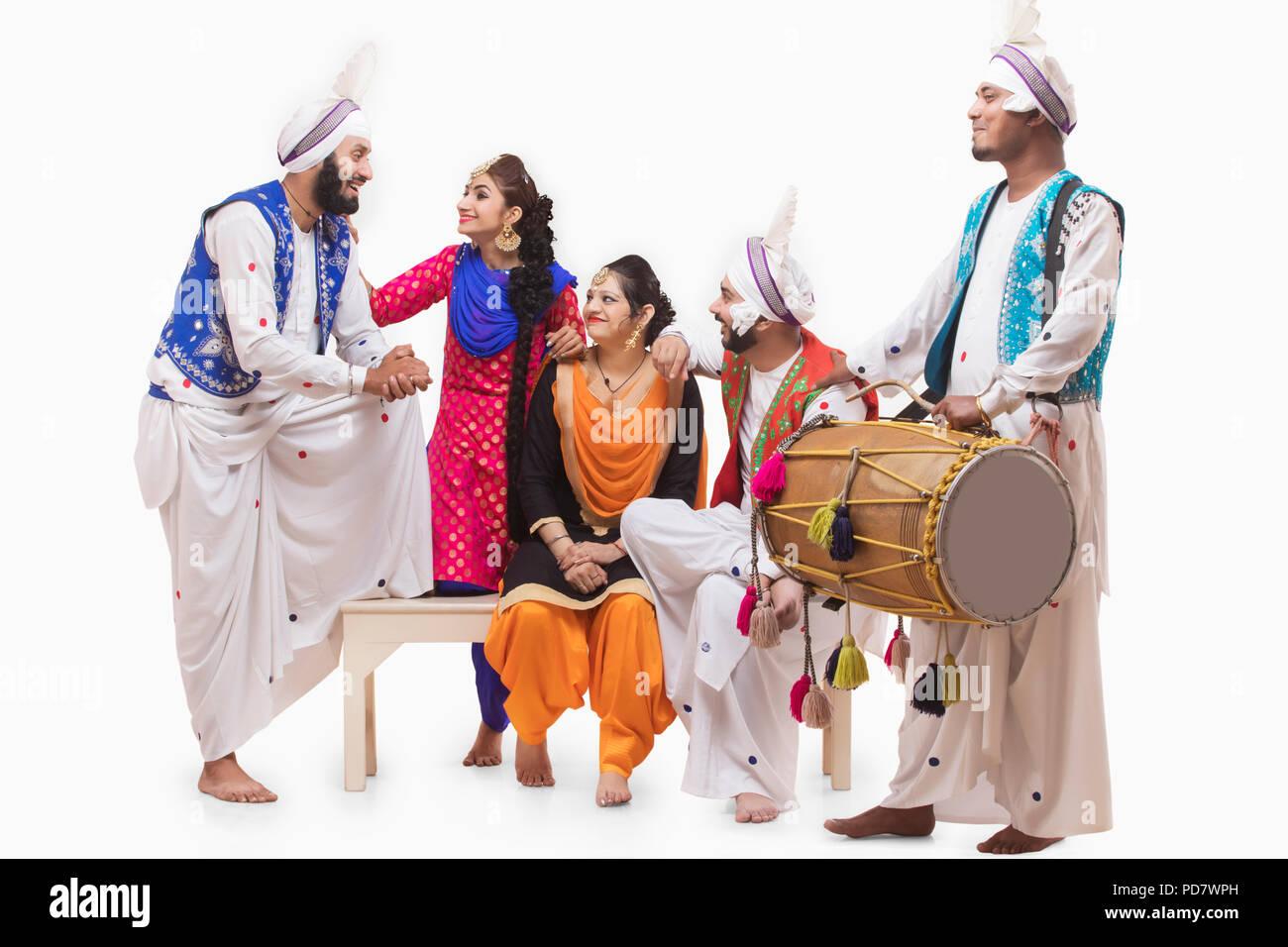 Sikh People Posing - Stock Image