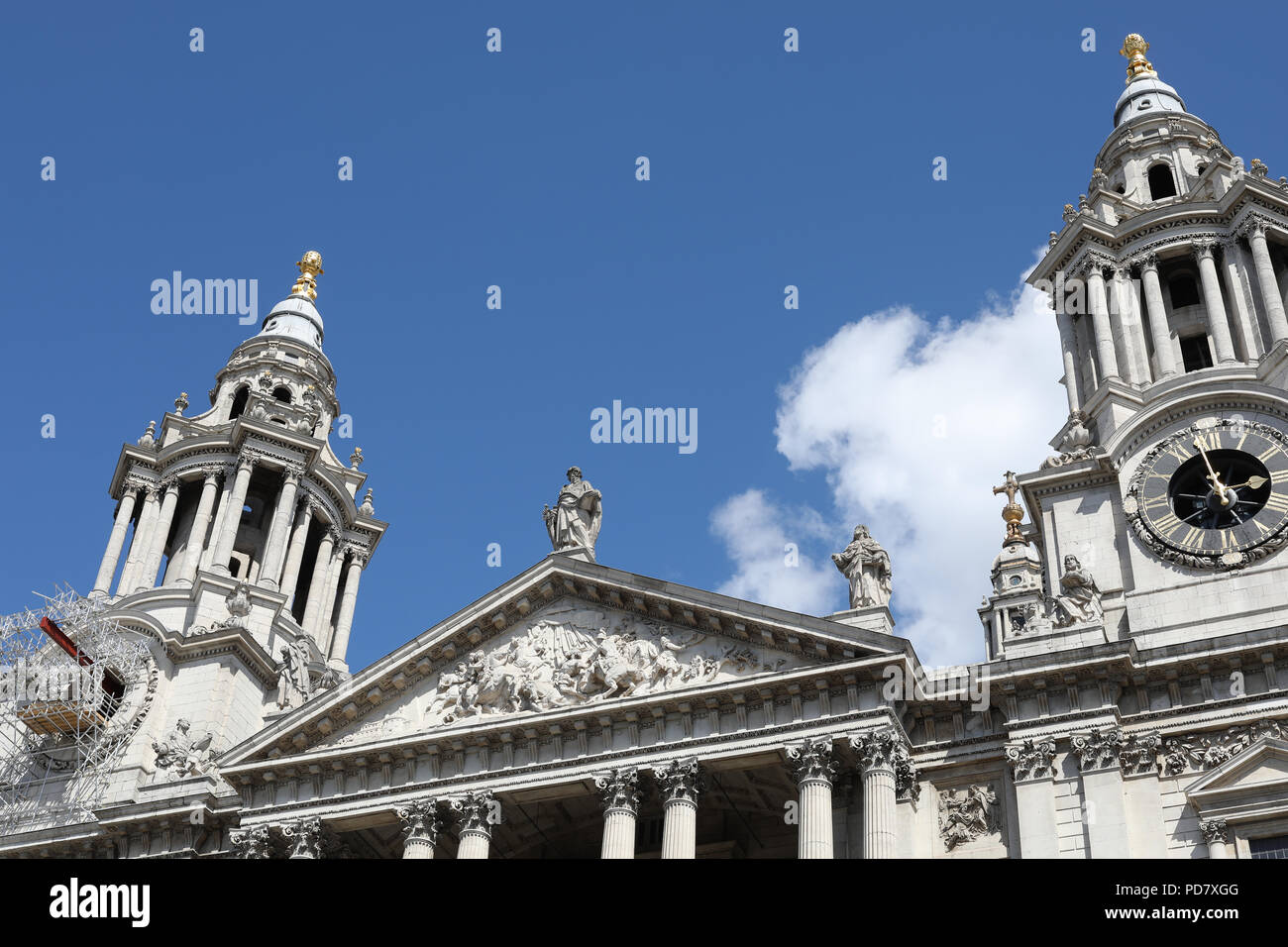 A view of St Paul's Cathedral, London Stock Photo