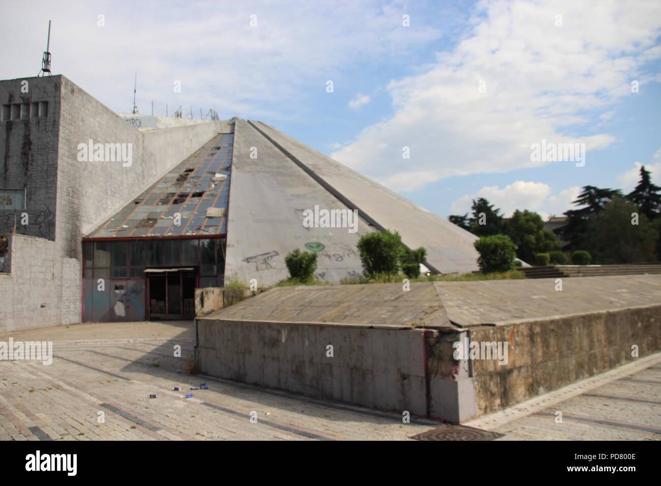 Pyramid of Tirana, Albania - Stock Image