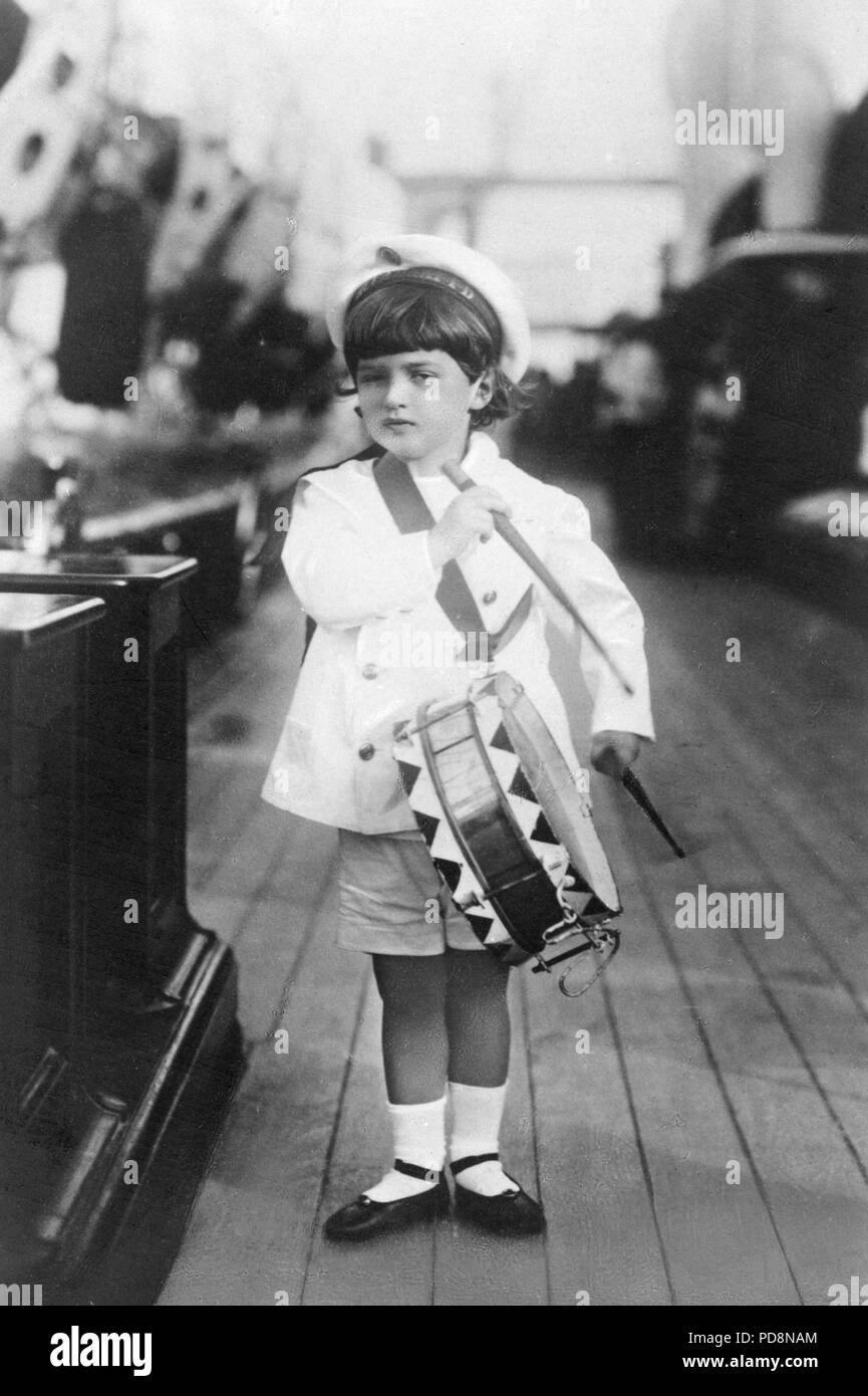 Tsar Nicholas II of Russia. 1868-1918. The last emperor of Russia. Pictured here his son Tsarevich Alexei Nikolaevich, 1904-1918. Stock Photo