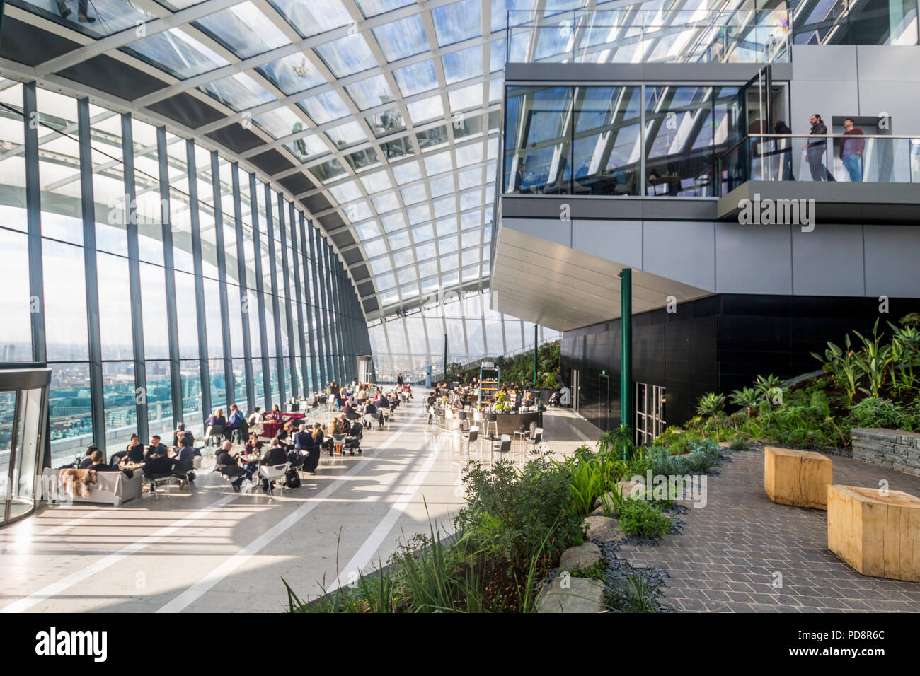 Sky Garden, 20 Fenchurch Street , a commercial skyscraper in London known at the Walkie Talkie, England, United Kingdom, Europe - Stock Image