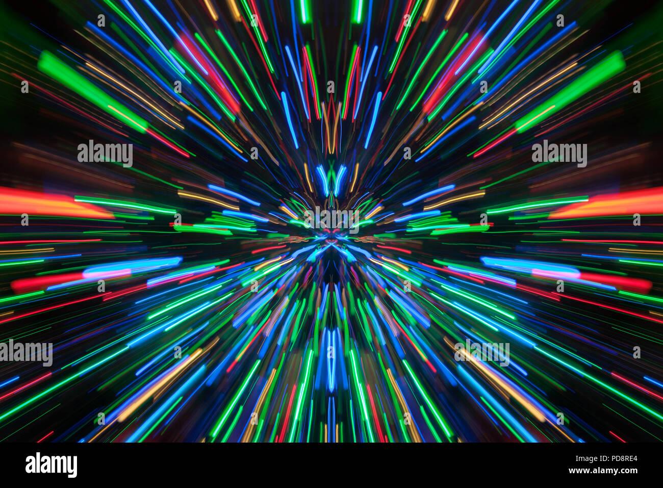 Abstract lighting effect. Stock Photo