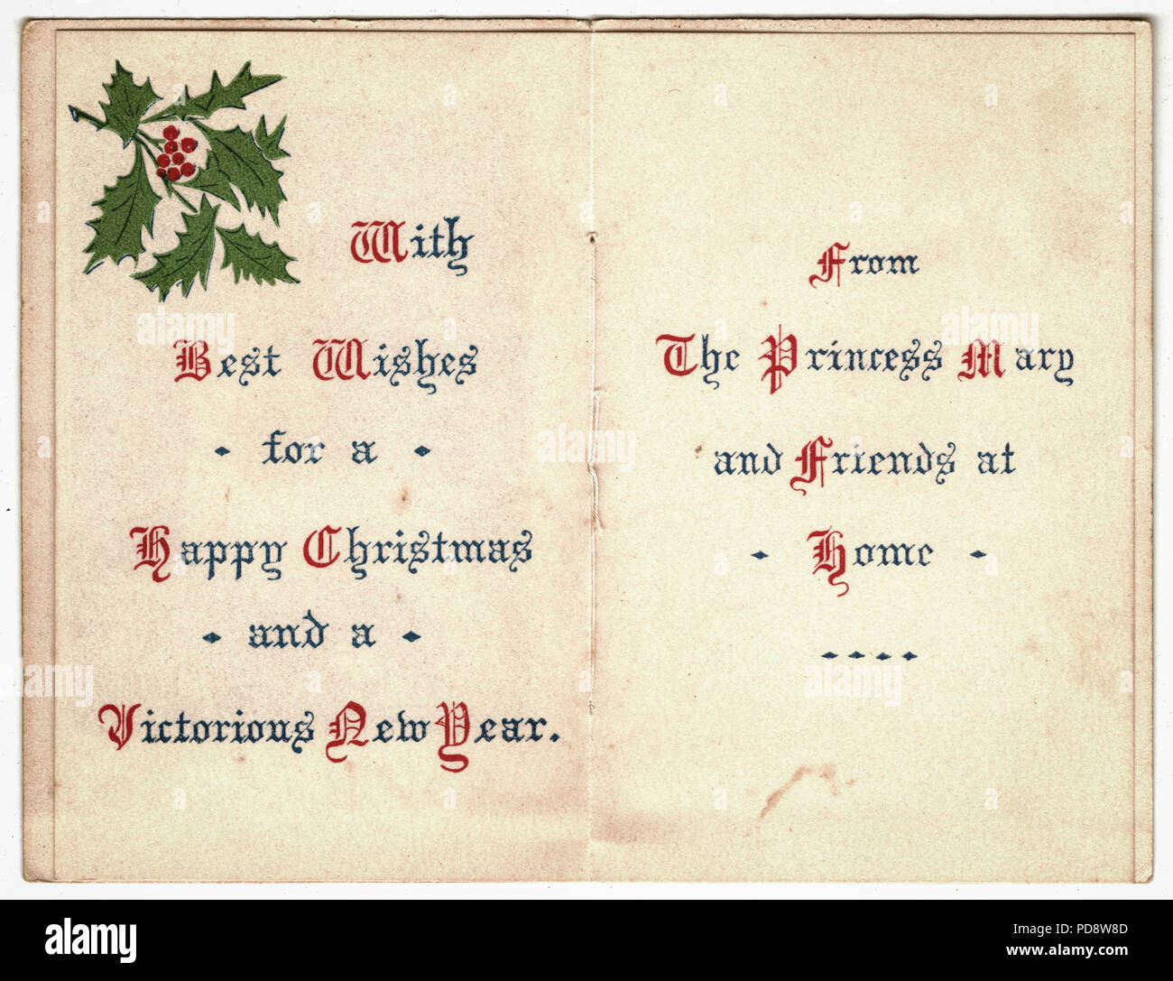 A Princess For Christmas Poster.World War 1 Princess Mary Card Wishing The Troops A Happy