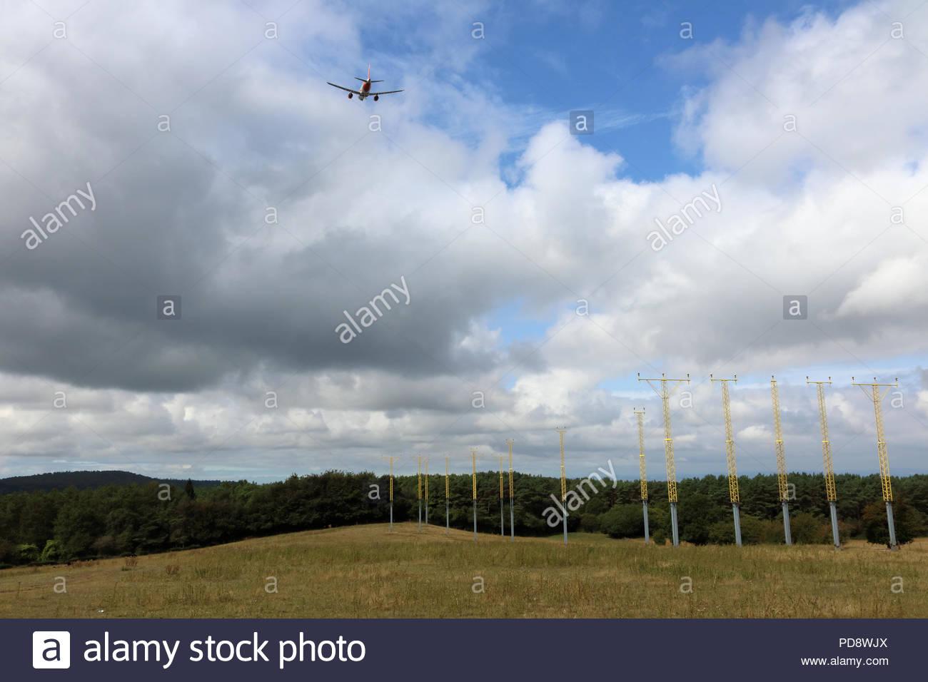 Landing equipment at the end of the Runway, Bristol Airport, Bristol, UK - Stock Image