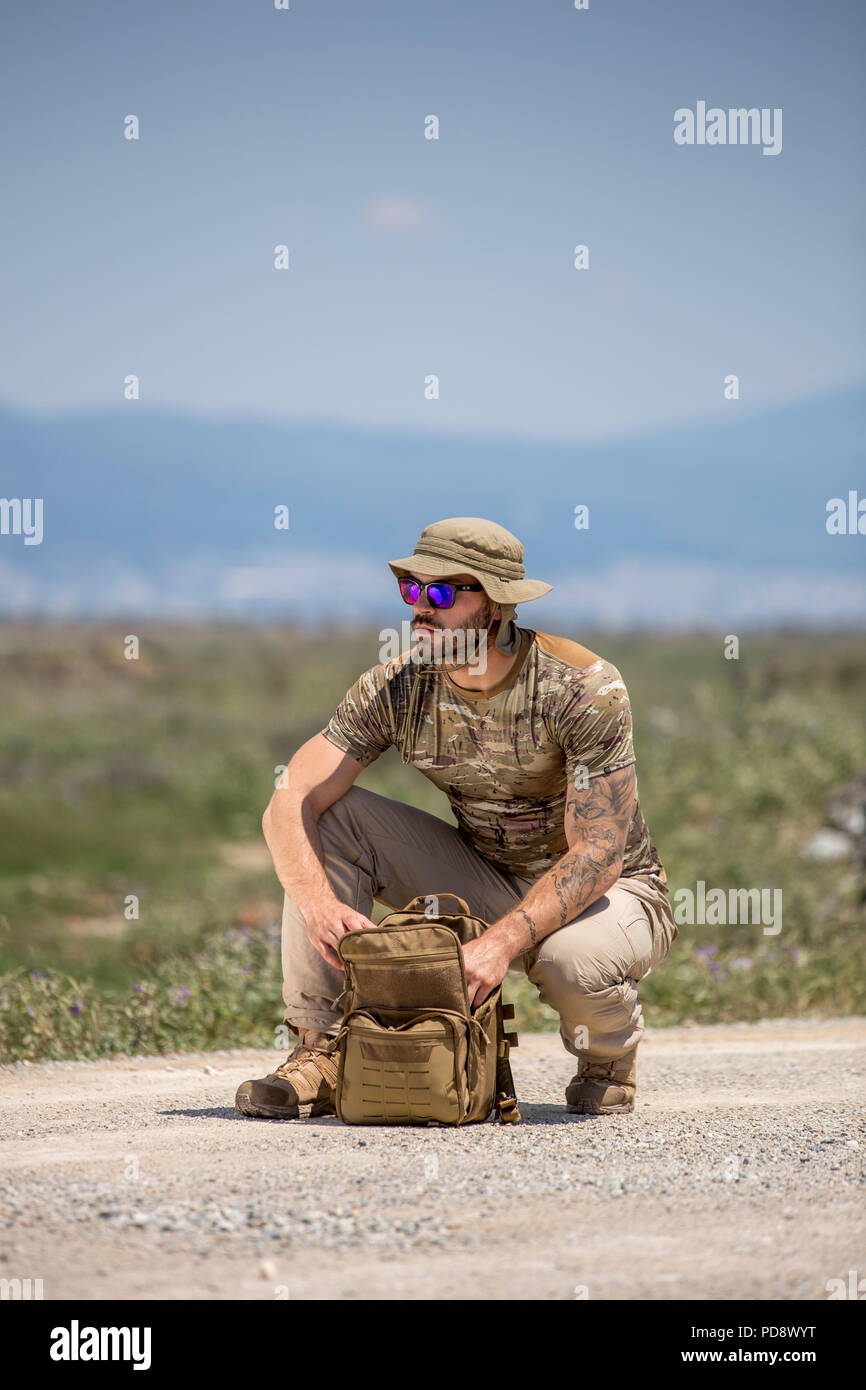 tactical wear - Stock Image