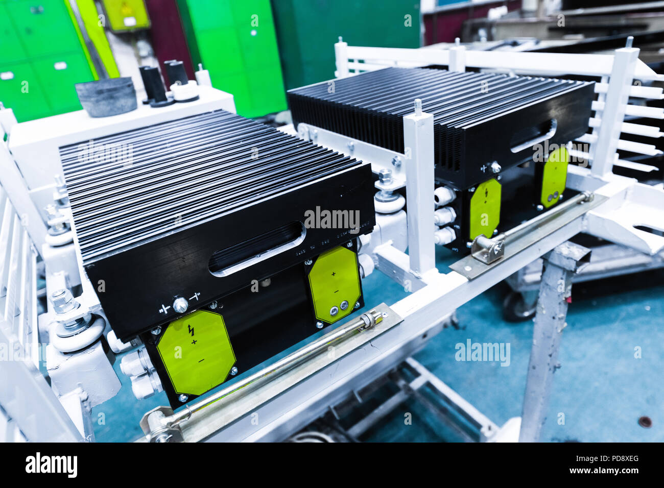 Equipment for car production - Stock Image