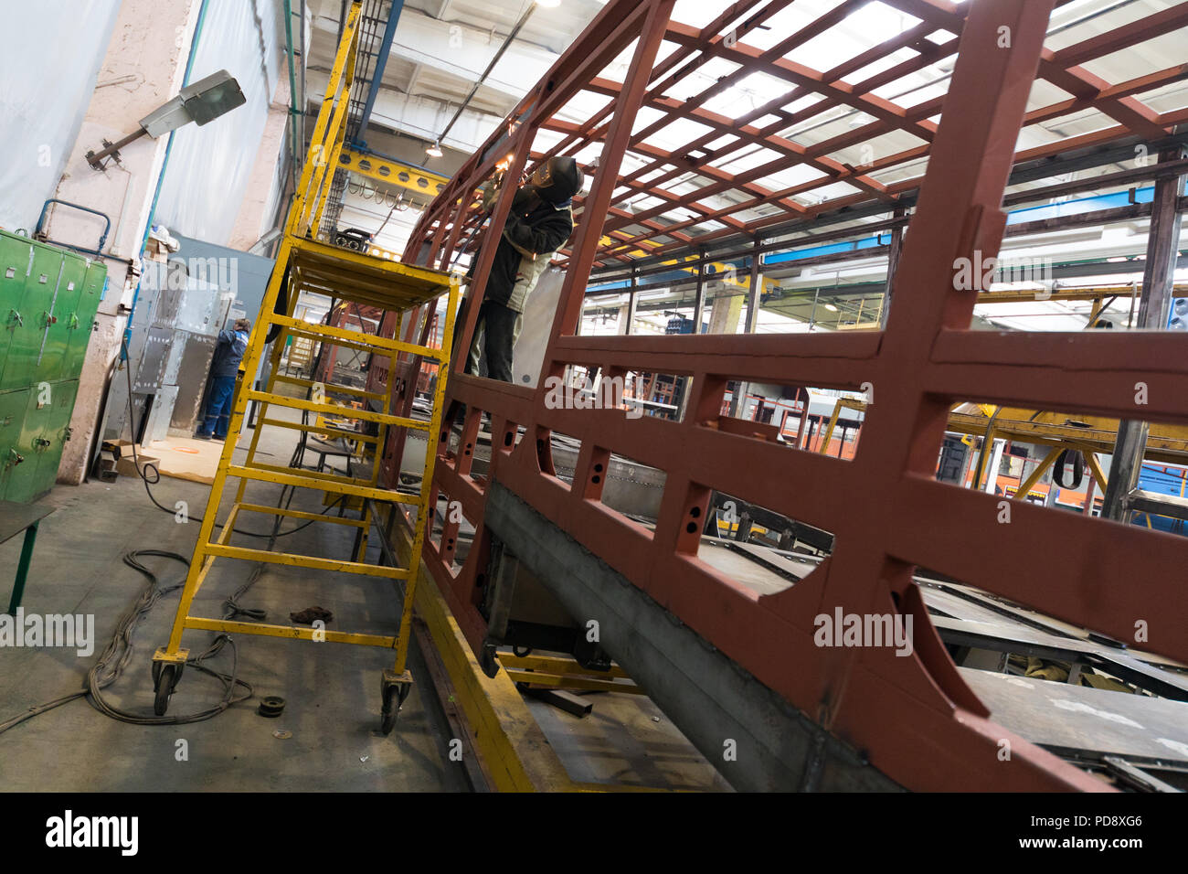 Tram production manufacture - Stock Image