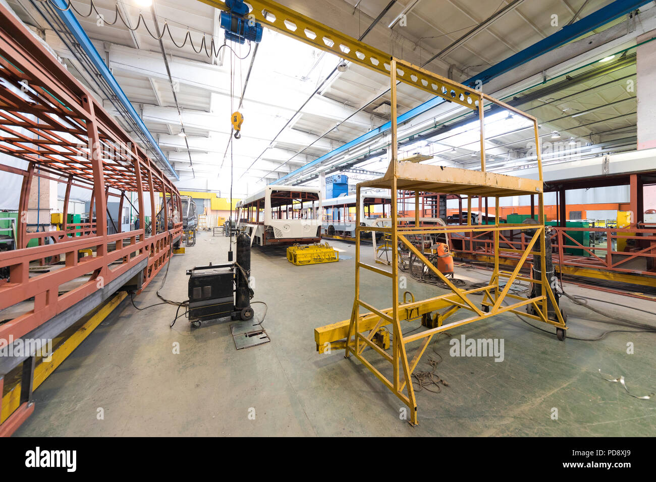 Bus production manufacture - Stock Image