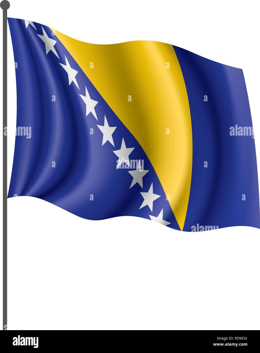 Bosnia and Herzegovina flag, vector illustration - Stock Vector