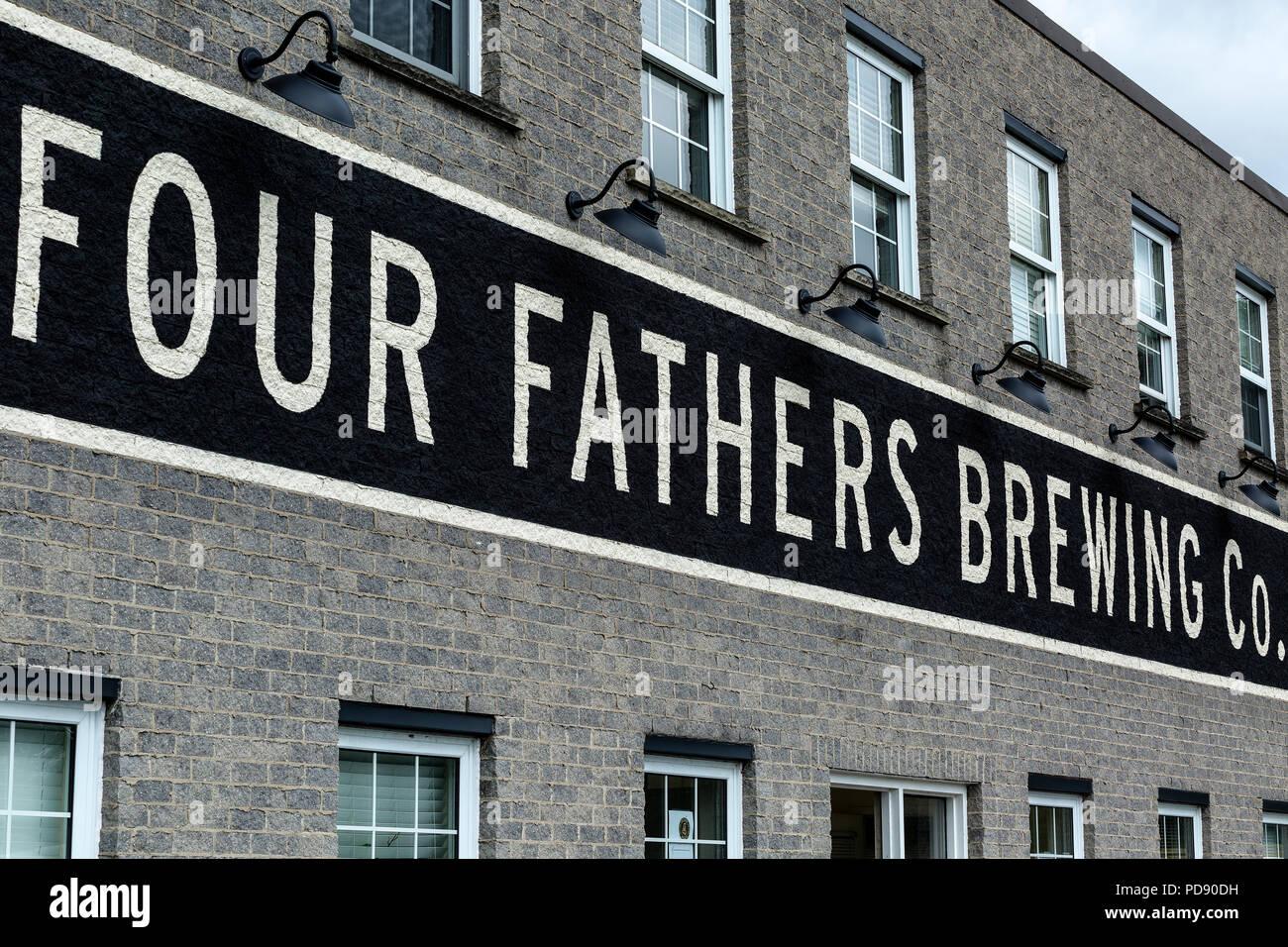 Four Fathers Brewing Cambridge (Hespeler) Ontario Canada. - Stock Image