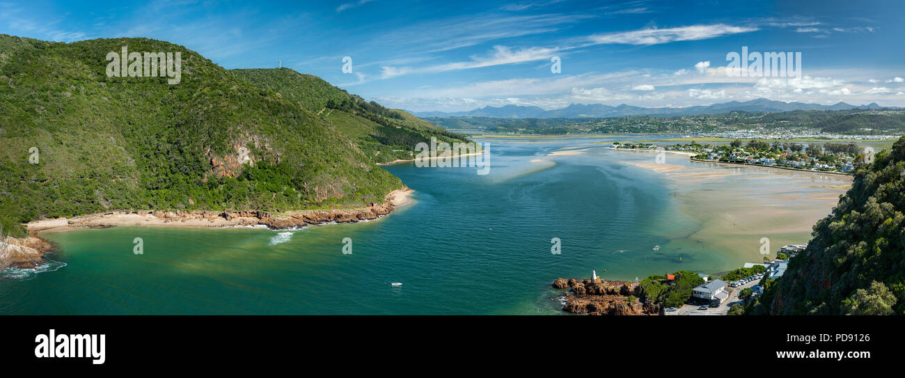 Knysna Lagoon on the Garden Route in the Western Cape Province of South Africa. - Stock Image