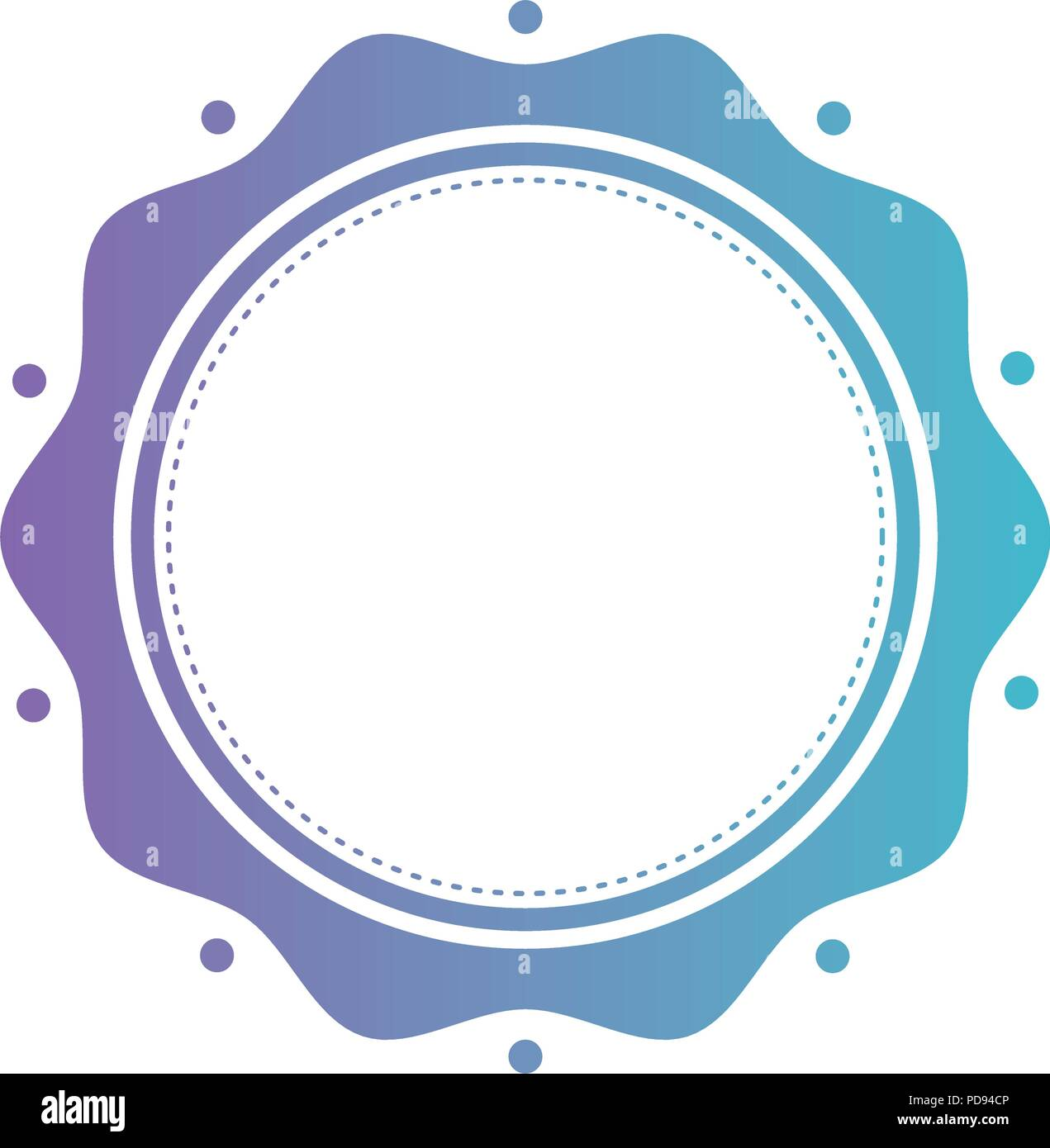 circular lace stamp icon - Stock Vector