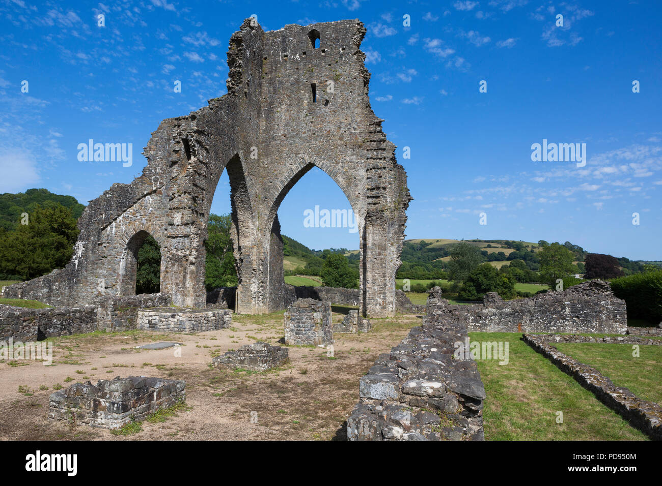 Ruins of  the Premonstratensian Talley Abbey, Carmarthenshire, Wales - Stock Image
