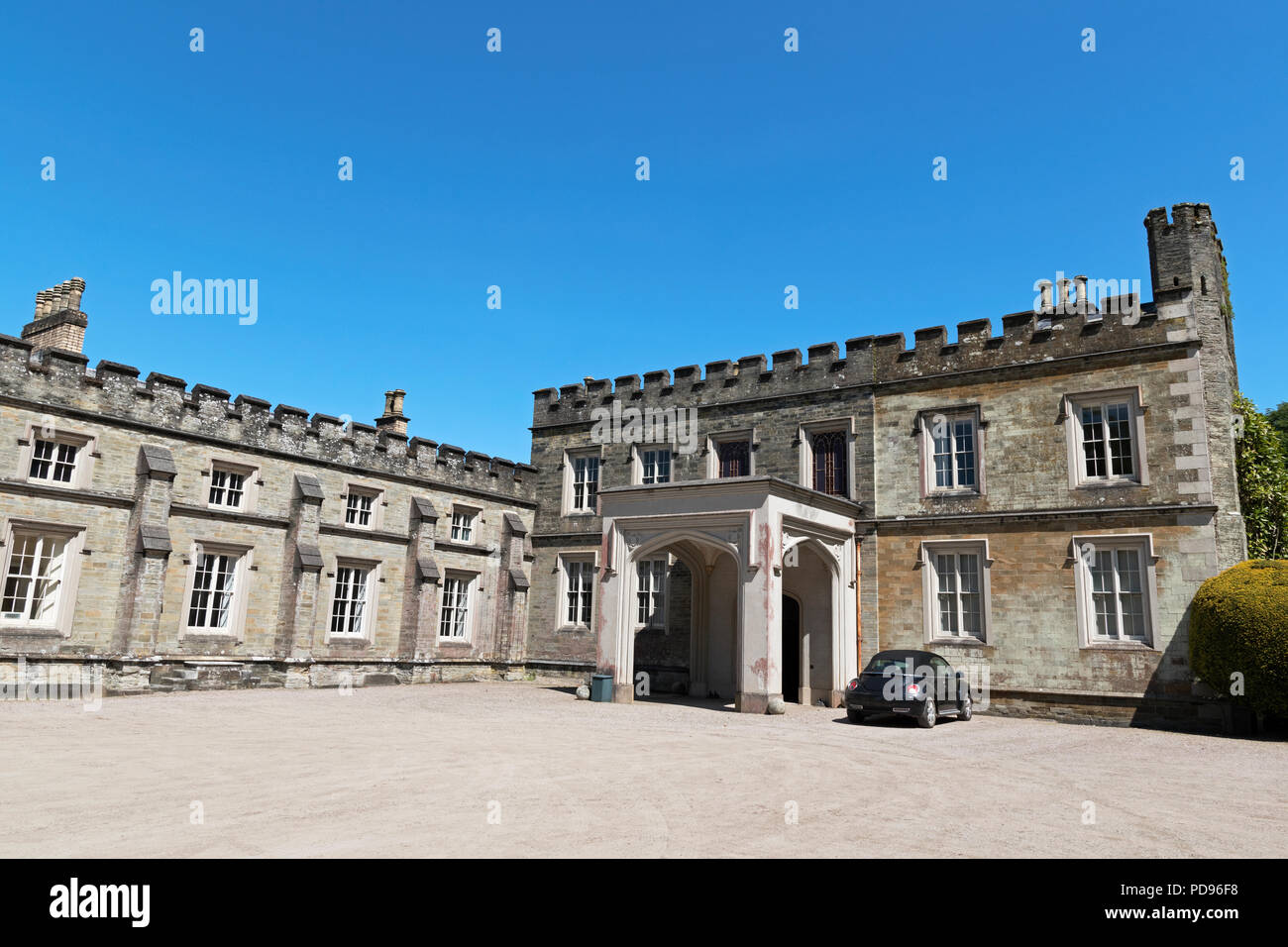 port eliot house in st.germans, cornwall, england, britain, uk, is the oldest most continually, lived in house in england. grade 1 listed it dates bac - Stock Image