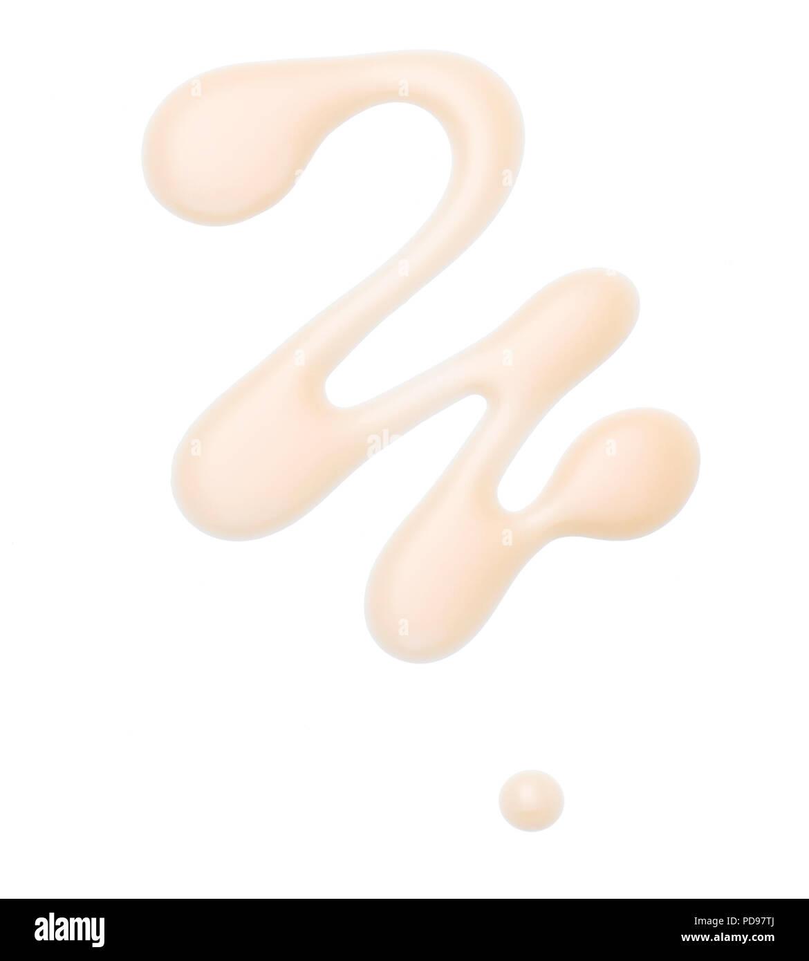 Liquid blush spill - Stock Image