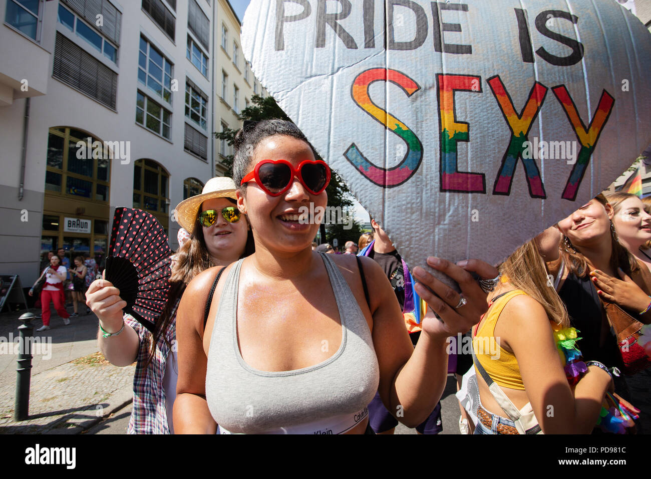 Christopher Street Day Pride parade, Berlin, Germany - Stock Image