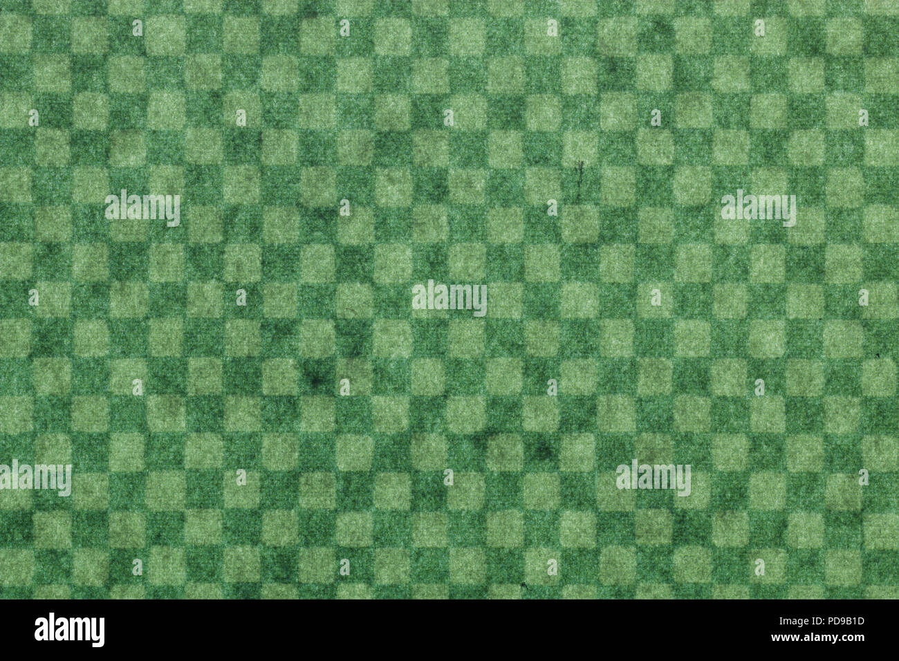 Japanese green checkered pattern paper texture or vintage background Stock Photo