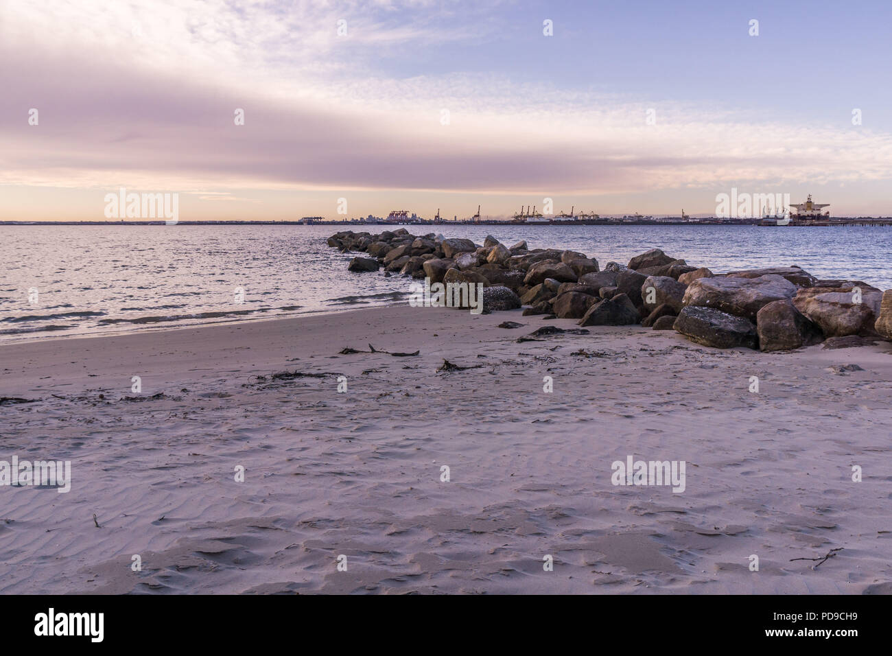 The beach at Kurnell, Sydney Stock Photo