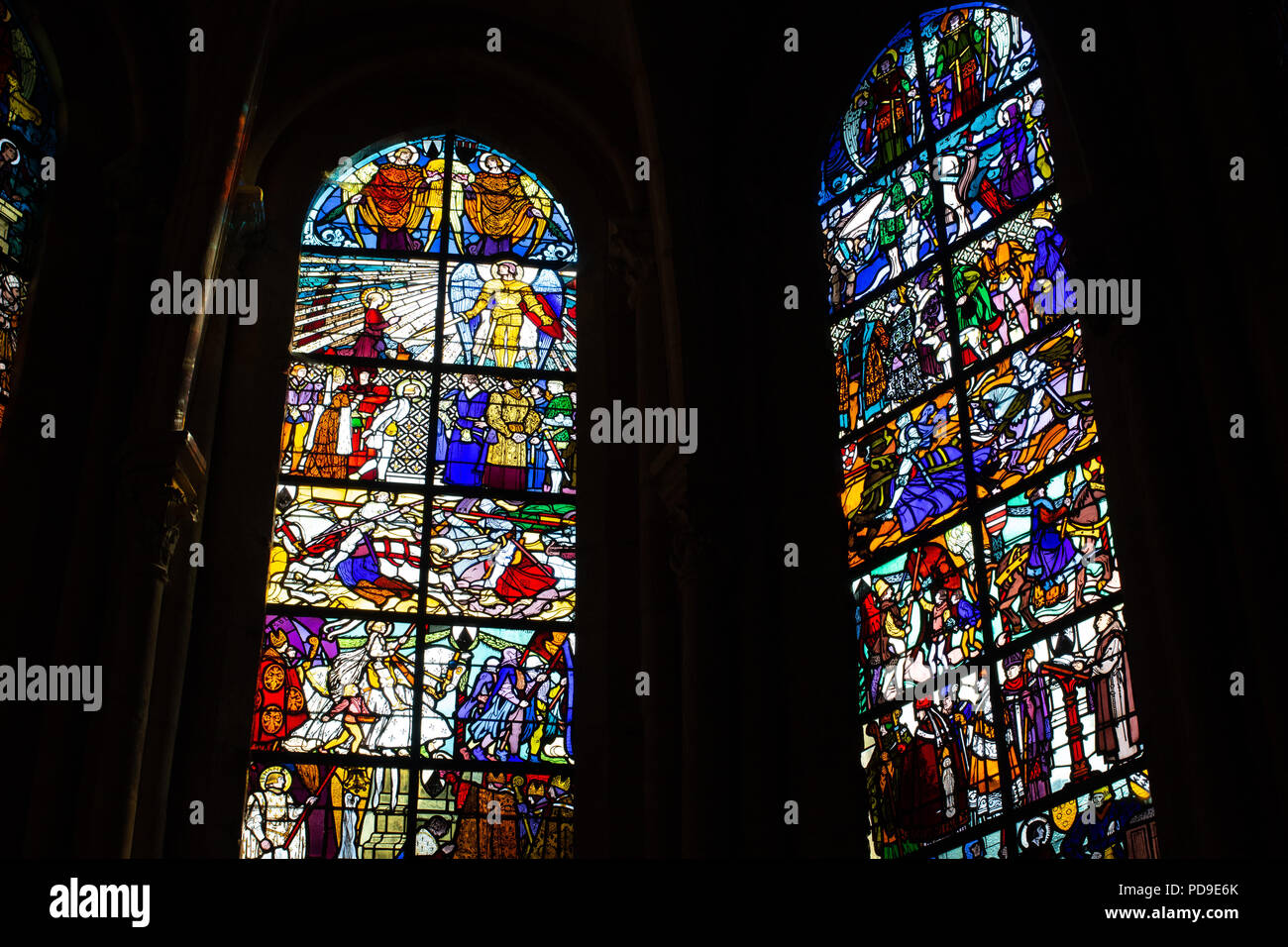 Inside Le Mans Cathedral, France Stock Photo