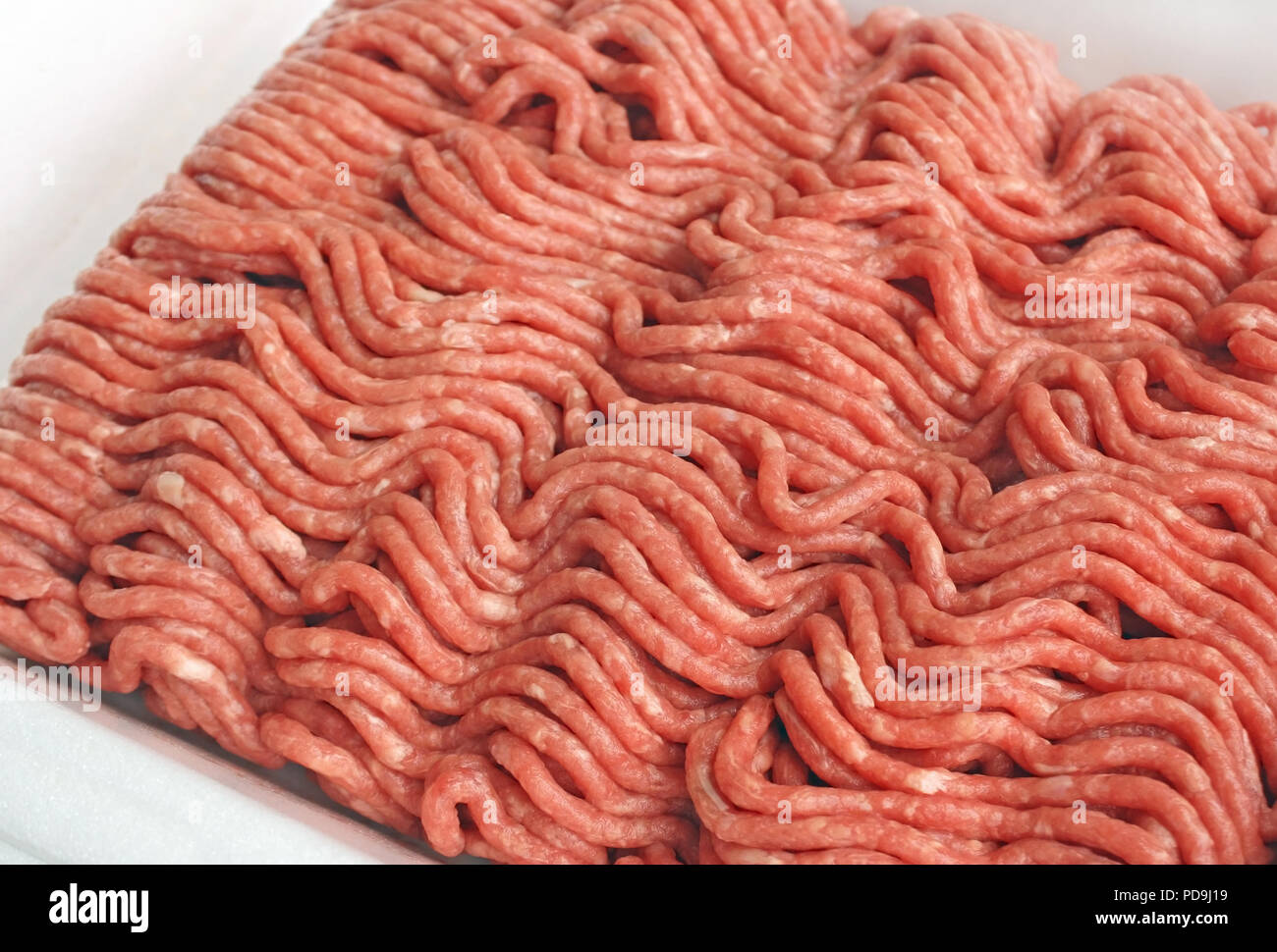 Close up of Lean ground beef - Stock Image