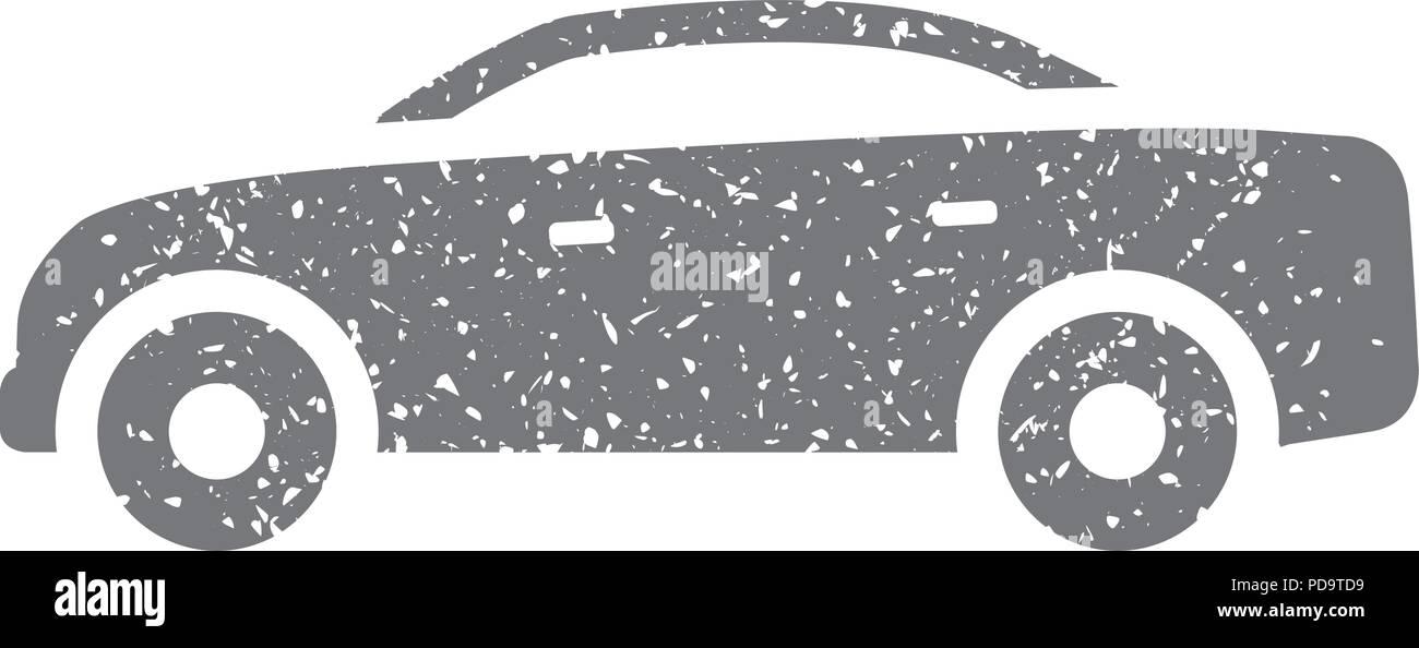 Grunge icon - Car - Stock Vector