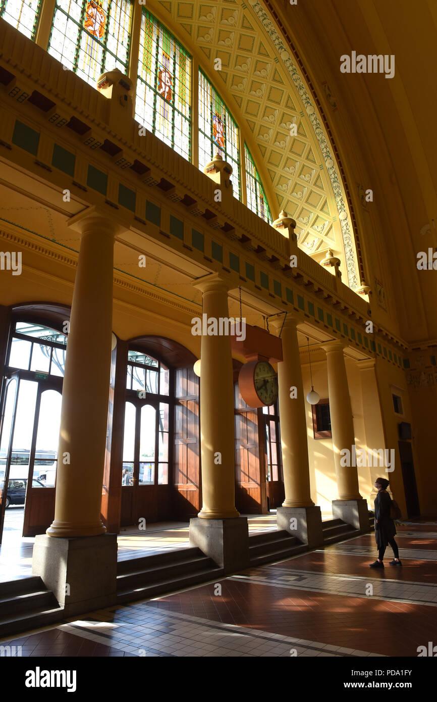 Prague Railway Station In The Czech Republic With Its Art Nouveau Interior Designed By Architect Josef Fanta 1901 1909