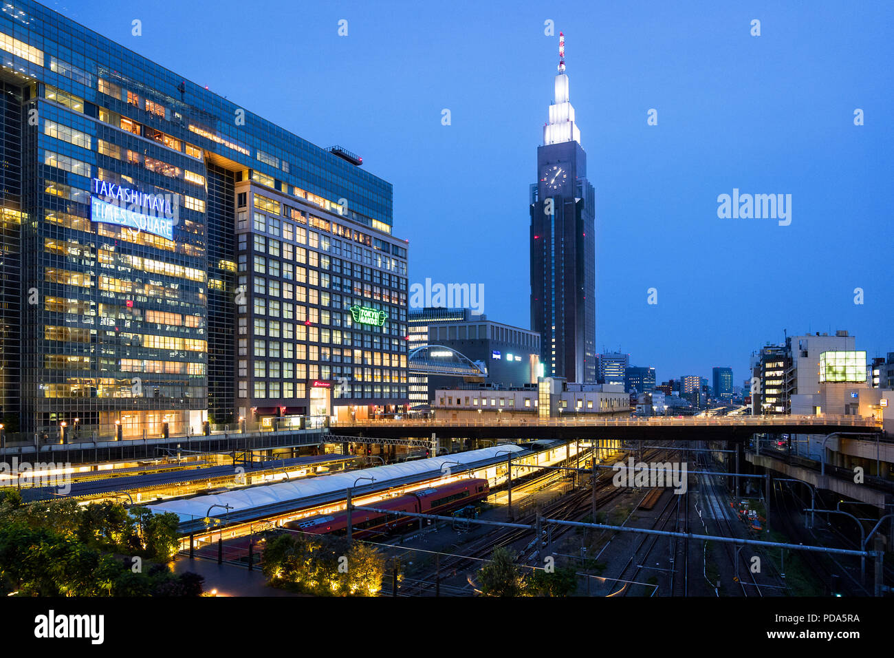 Japan, Honshu island, Kanto, Tokyo, the Shinjuku district and Dokomo tower. - Stock Image