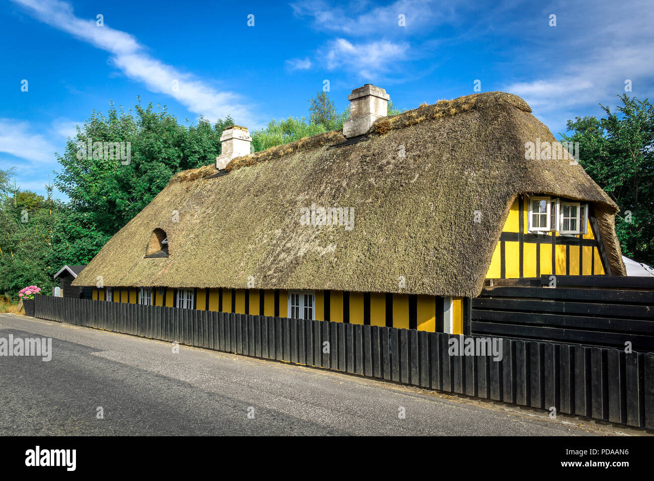 Denmark, Fredericia: Old half-timbered house in the eastern part of Jutland. Stock Photo