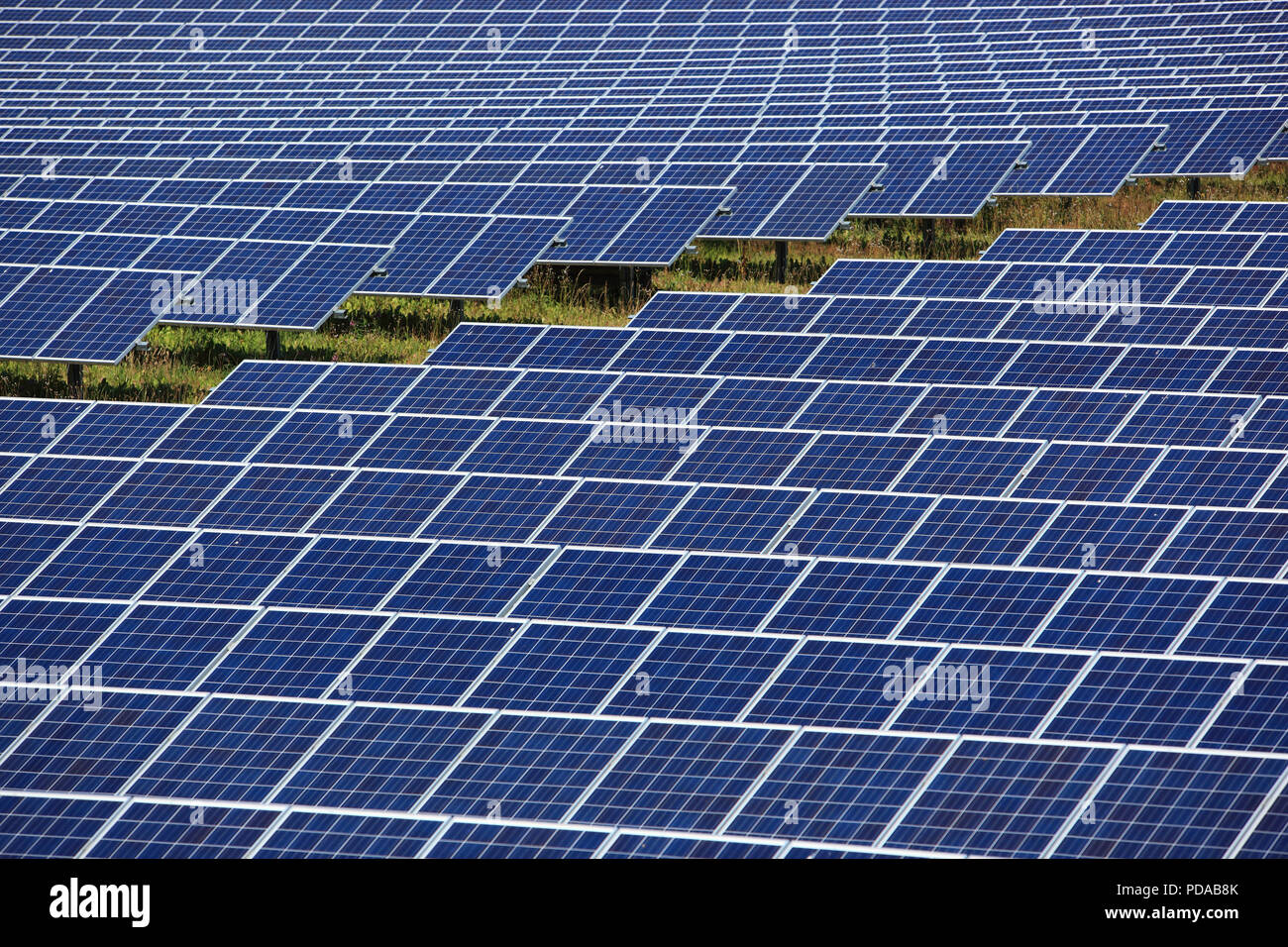 photovoltaic power station, a solar park - Stock Image