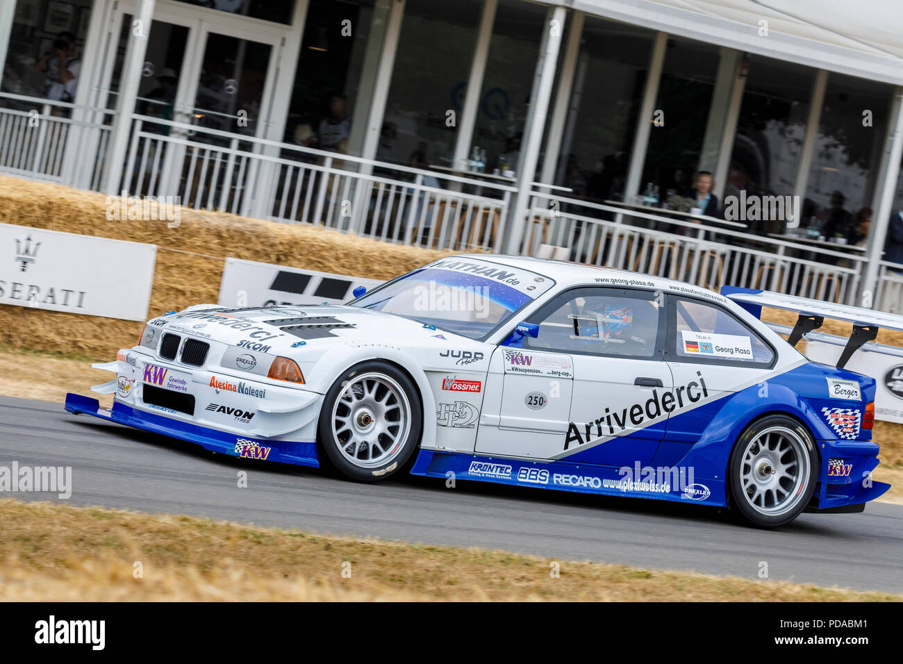 ac3d994ca03fd6 1991 BMW E36 V8 JUDD Pikes Peak entrant with driver Joerg Weidinger at the  2018 Goodwood