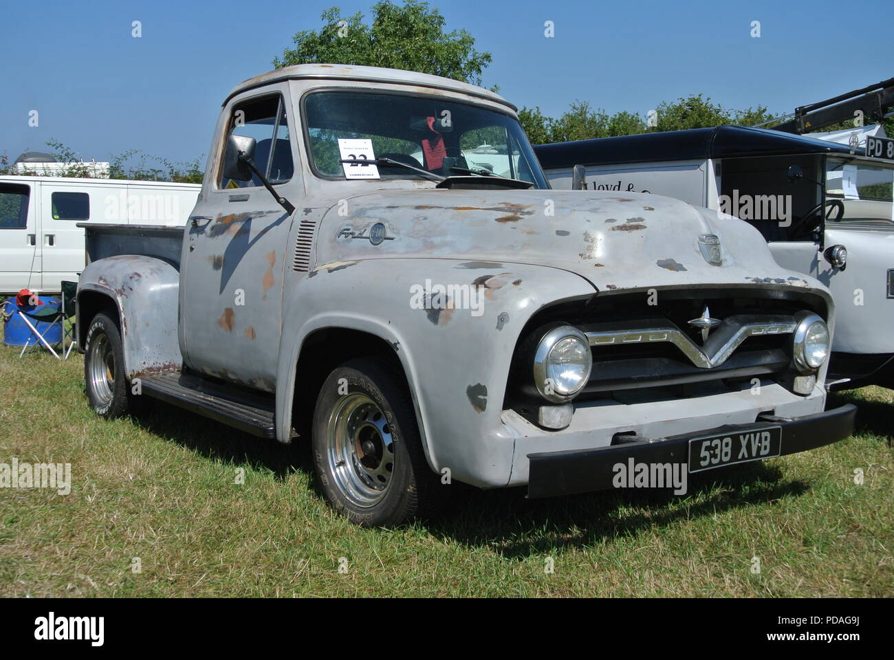 Ford F100 Stock Photos Images Alamy 1955 Side A Pickup Truck Parked Up On Display At Torbay Steam Fair Churston