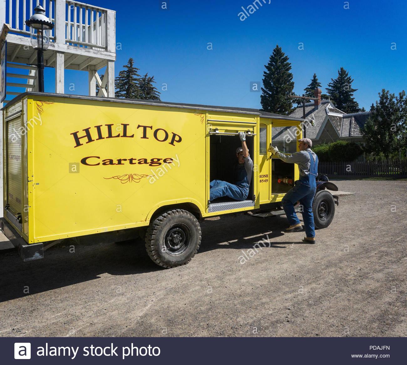 Hilltop Cartage Heritage Park Calgary Alberta Canada - Stock Image