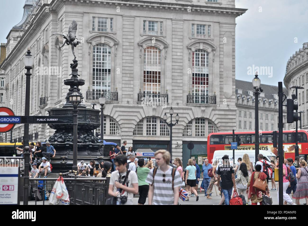 Piccadilly circus, central London - Stock Image