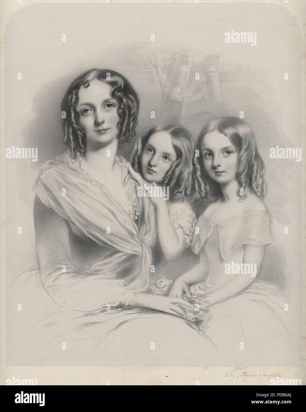 Anna Constantia (née Beresford), Lady Thynne; Selina Thynne; Emily Thynne by Richard James Lane. - Stock Image