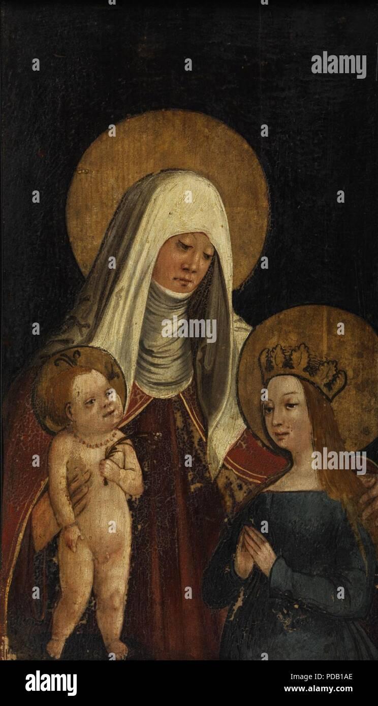 Anna selbdritt westdeutsch 16Jh. - Stock Image