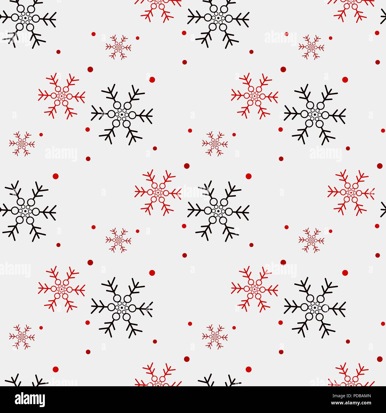 red and black snowflake seamless pattern snow on white background abstract wallpaper wrapping decoration symbol winter merry christmas holiday h PDBAMN