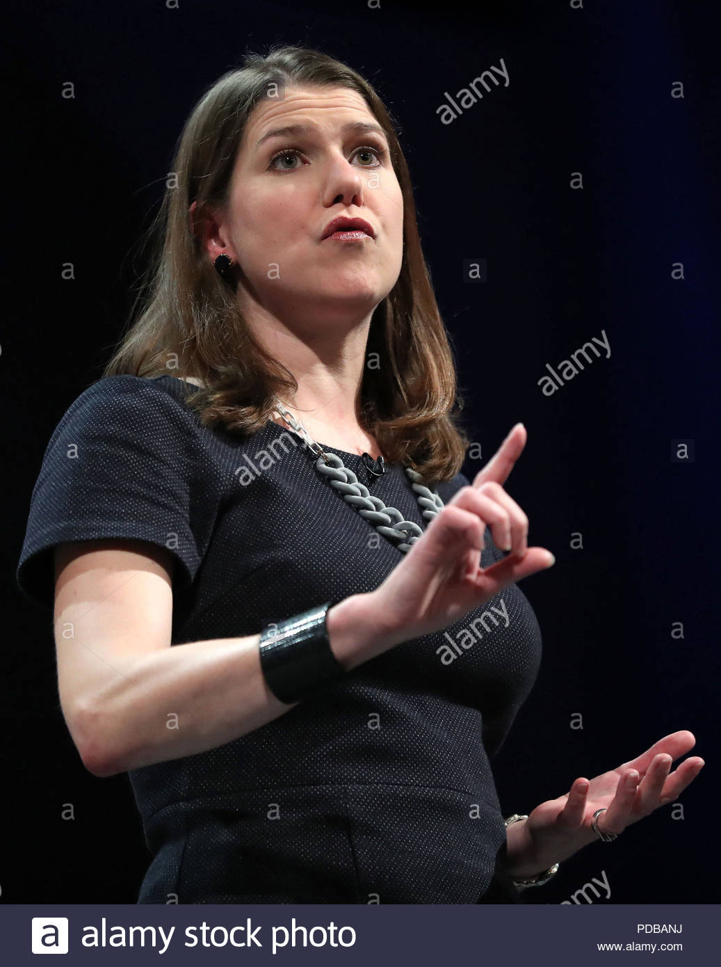File photo dated 17/09/17 of Liberal Democrats deputy leader Jo Swinson, who has urged the Prime Minister to order Government departments to publish full details of parental leave entitlement. - Stock Image
