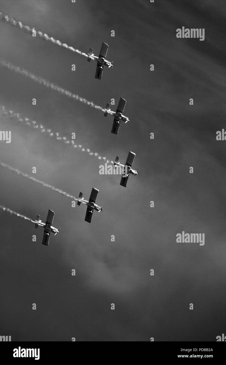 Team Raven, Formation Aerobatic Display Team, Flying at Torbay Airshow, June 2018. - Stock Image