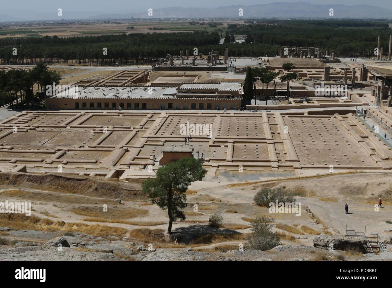 Blick auf die Ruinen von Persepolis in Iran - Stock Image