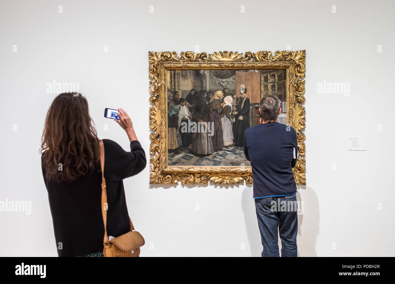 El Beso De La Reliquia By Joaquin Sorolla Museo De Bellas Artes Or Fine Arts Museum Bilbao Spain Stock Photo Alamy