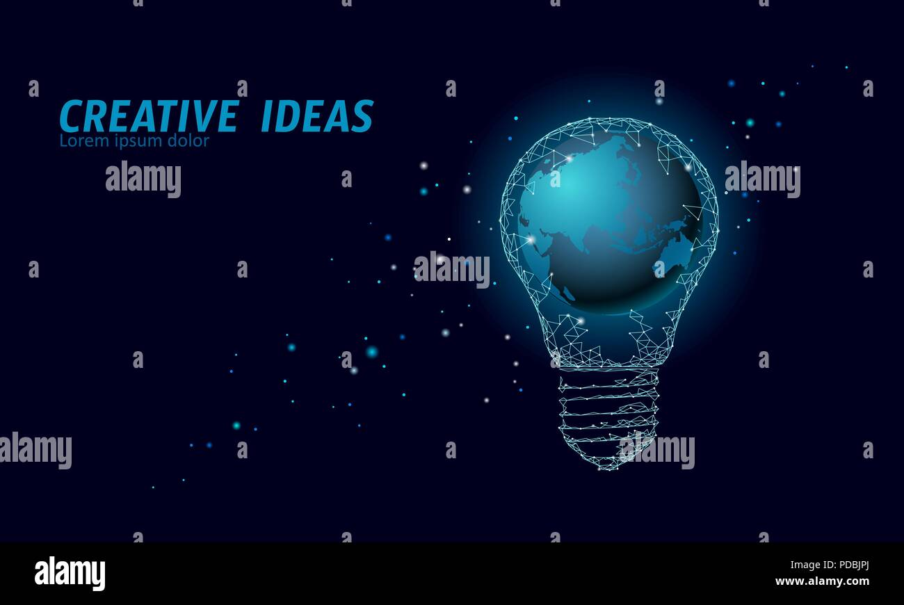 Earth day night stock photos earth day night stock images alamy world earth hour light bulb concept polygonal night space star dark blue sky low poly gumiabroncs