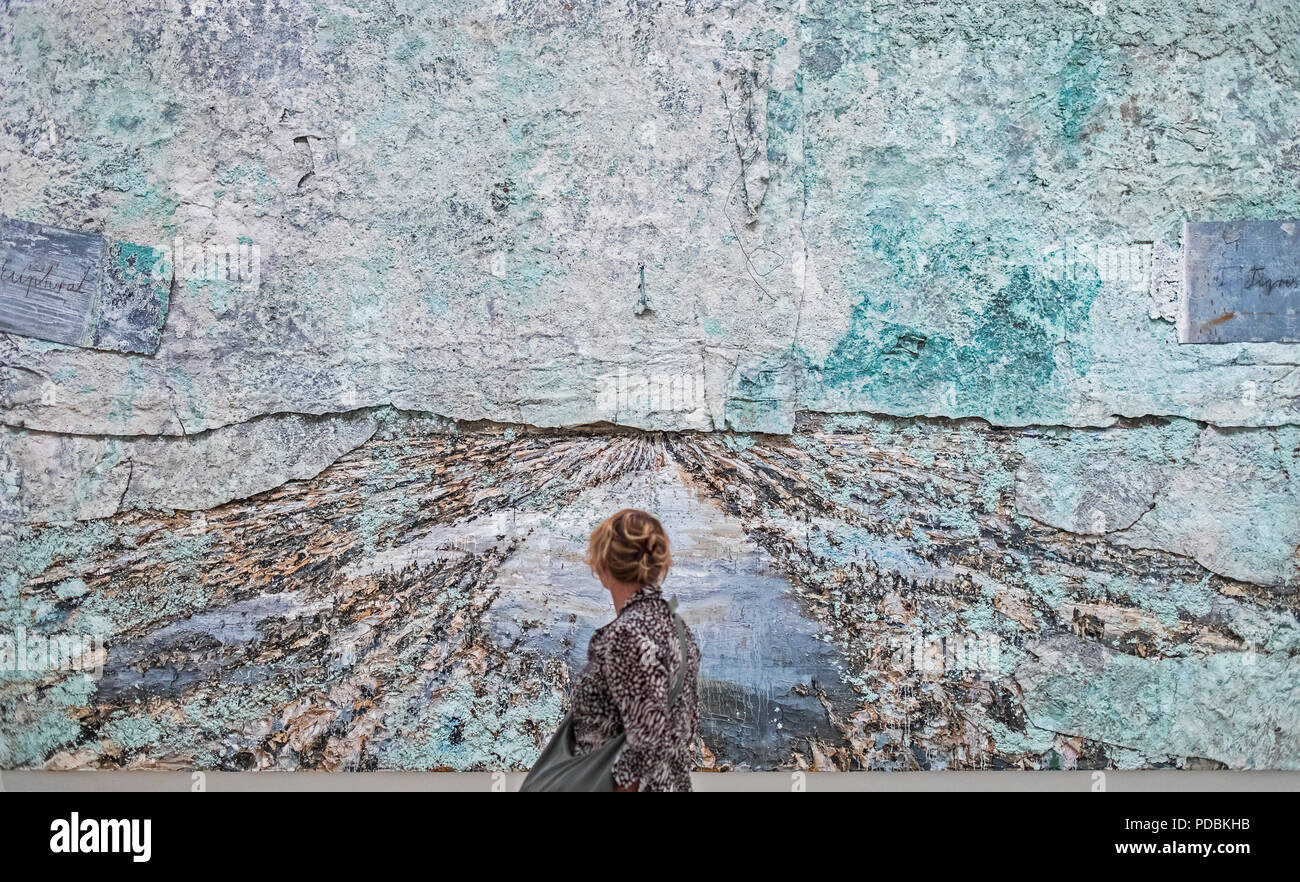 `The land of the two rivers´ by Anselm Kiefer,  museum collection, Guggenheim Museum,  Bilbao, Spain - Stock Image
