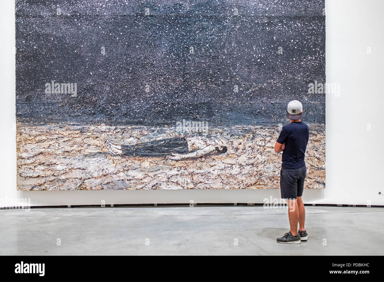 `The renowned orders of the night´, by Anselm Kiefer, museum collection, Guggenheim Museum,  Bilbao, Spain - Stock Image
