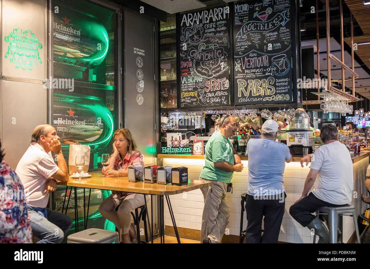 Area Of Bars And Restaurants In La Ribera Market Bilbao