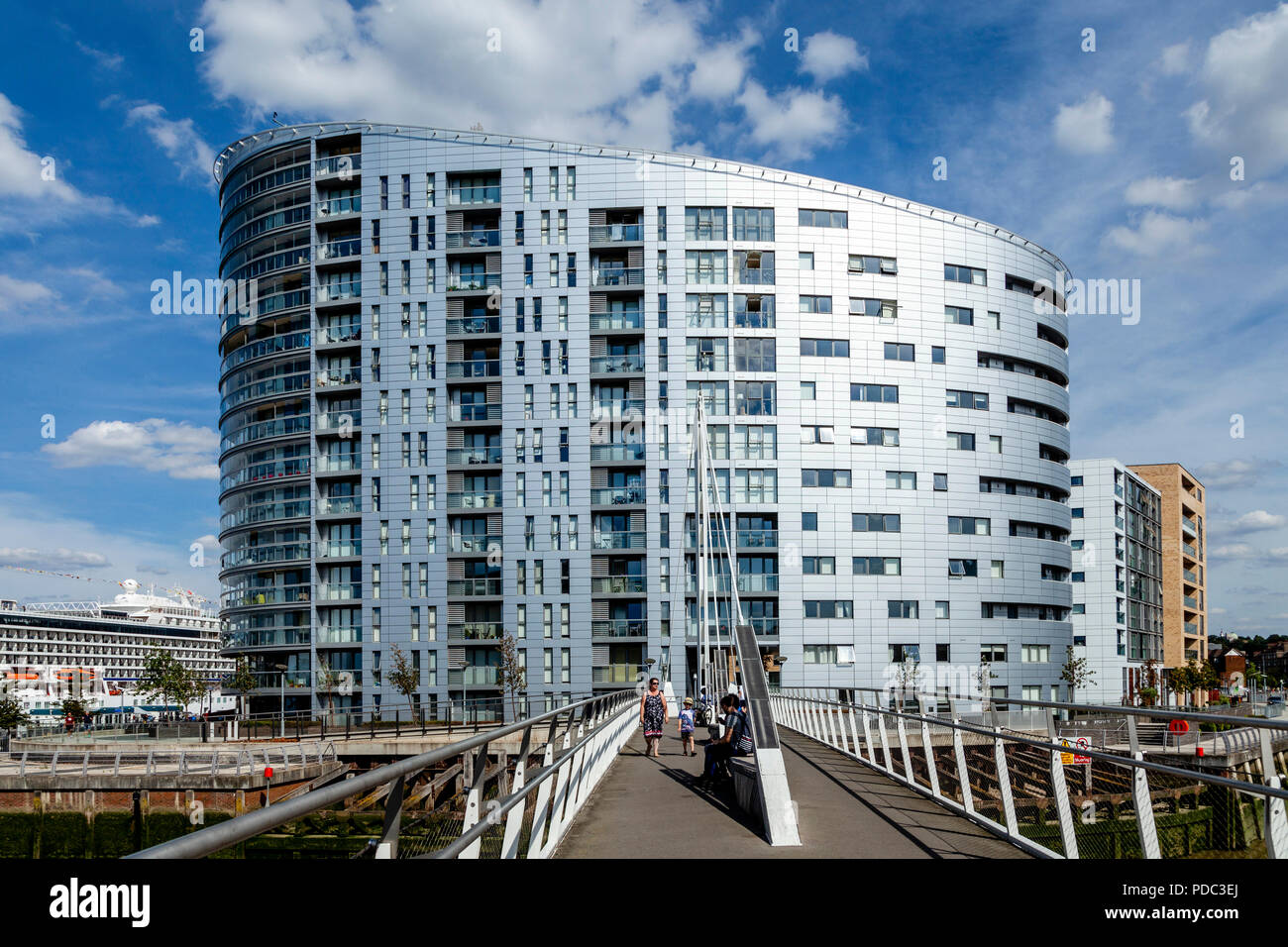 New Capital Quay Apartment Building, Greenwich, London, UK - Stock Image